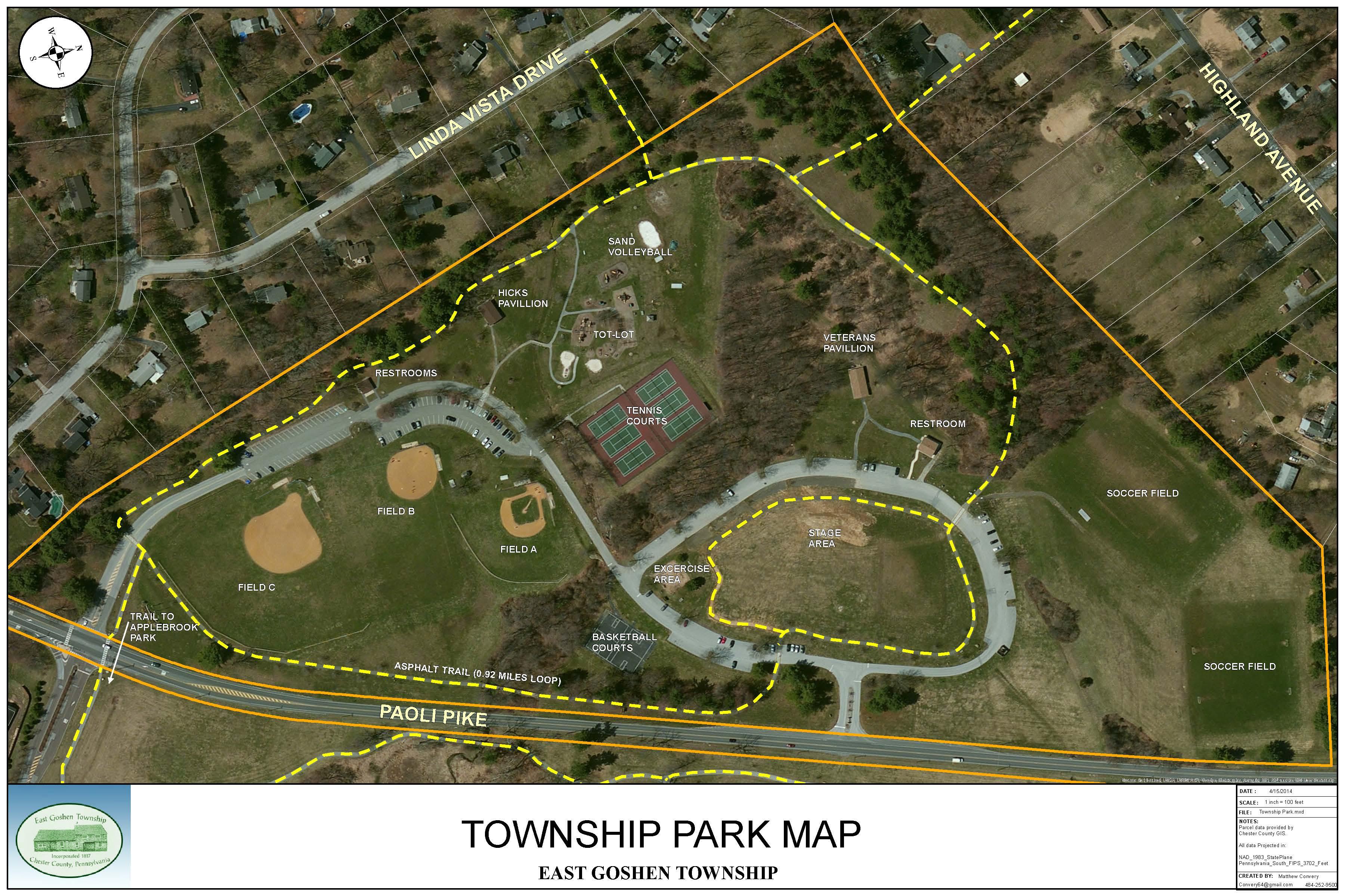 Local Park Finder East Goshen Township