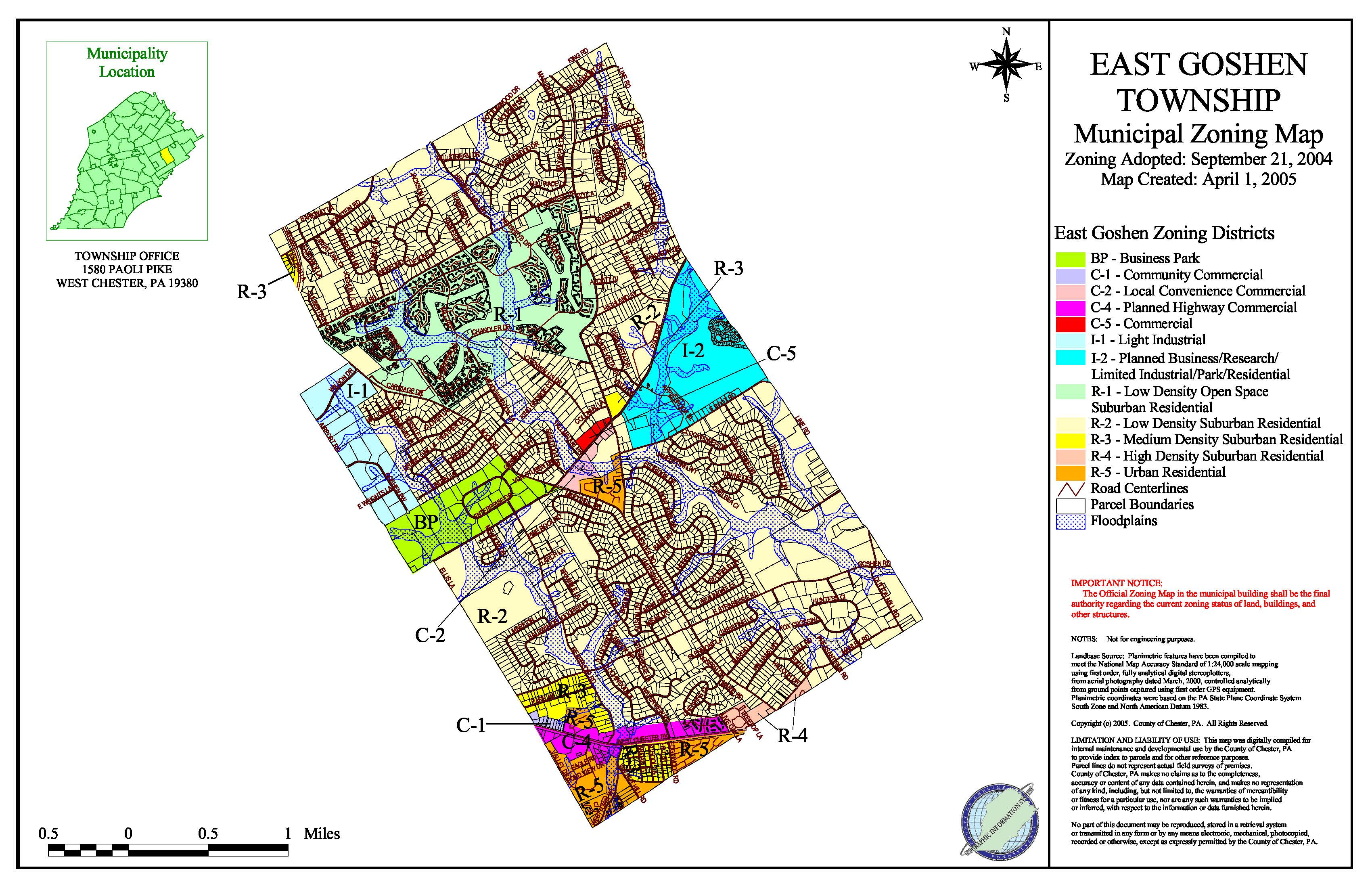 Zoning Map : East Goshen Township on